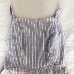 Old Navy Chambray Striped Jumpsuit